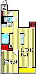 プランドール B[1階]の間取り