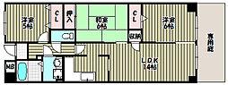 ラ・メゾンMS[1階]の間取り
