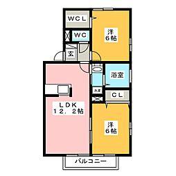 プレミアムタウンB[2階]の間取り
