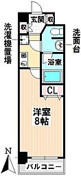 愛知県名古屋市千種区神田町の賃貸マンションの間取り