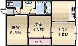 ライズワン大和高田レジデンス[310号室]の間取り