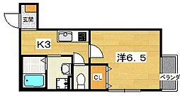 大阪府交野市星田3丁目の賃貸アパートの間取り