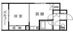 パームコート旭川[2階]の間取り