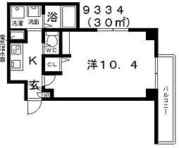 エヌエムサンカンテドゥ[3FD号室号室]の間取り