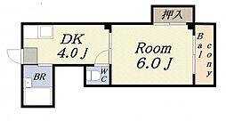 アワーハウス磯路[3階]の間取り