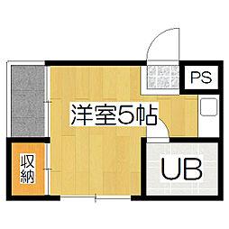 桃山サニーハイツ[3階]の間取り