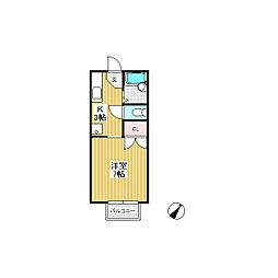 ハイツアズマIII[1階]の間取り