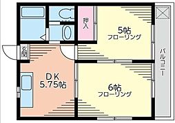 神奈川県川崎市川崎区殿町1丁目の賃貸マンションの間取り