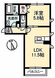 プロヌーブ富田[2階]の間取り