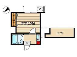 神奈川県茅ヶ崎市南湖3丁目の賃貸アパートの間取り