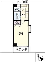 PALACEセジュール瀬戸口[2階]の間取り