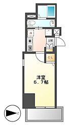 愛知県名古屋市中区平和2丁目の賃貸マンションの間取り