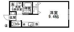 ZOPA(ゾーパ) 1階ワンルームの間取り
