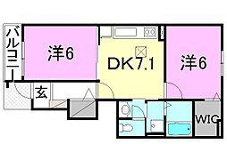 カルフール・K[105 号室号室]の間取り