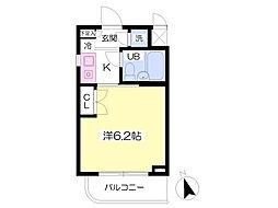 東京メトロ丸ノ内線 方南町駅 徒歩3分の賃貸マンション 1階1Kの間取り