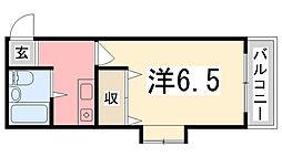 シエスタ姫路[701号室]の間取り