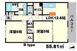 KFLAT[6階]の間取り