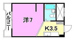 キジヤ千舟ビル[502 号室号室]の間取り