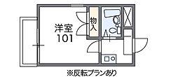 大阪府東大阪市新喜多1丁目の賃貸マンションの間取り