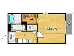 カノン円町[105号室]の間取り