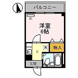 パナシェモリ[2階]の間取り