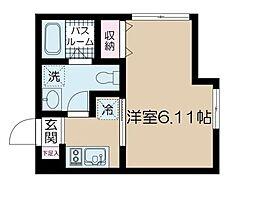JR常磐線 亀有駅 徒歩13分の賃貸アパート 1階1Kの間取り