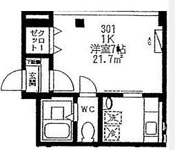 カサフローラ勝田台[301号室]の間取り
