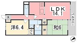 エンゼルハイム姫路[604号室]の間取り