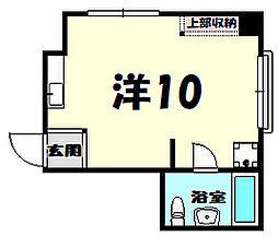 生田マンション[2階]の間取り