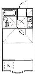 コーポマリーナ尾山台[1階]の間取り