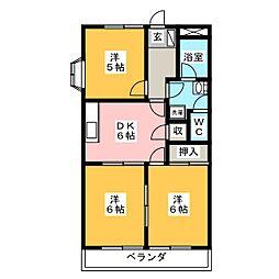らぴあす80[3階]の間取り
