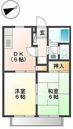 ドミール高橋 B[2階]の間取り