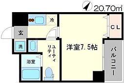 レバンガ江坂アパートメント[7階]の間取り