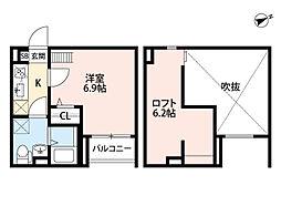 GLANTERIOR出屋敷[1階]の間取り
