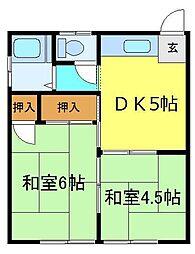 三沢コーポ[203号室]の間取り
