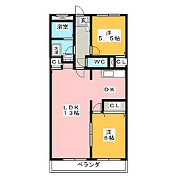 フロラシオンAI[1階]の間取り