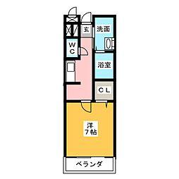 ラ・シャンス[3階]の間取り