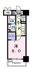 東京都国分寺市本町3丁目の賃貸マンションの間取り