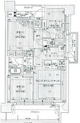プレサンスロジェ阿倍野阪南町[7階]の間取り
