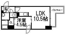北海道札幌市中央区南十三条西1丁目の賃貸マンションの間取り