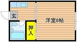 岡山県岡山市北区南方3丁目の賃貸アパートの間取り