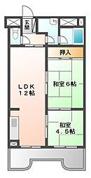稲津ローレルハウス[3階]の間取り