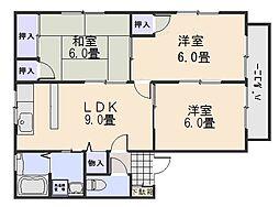 セジュール宮田[2階]の間取り
