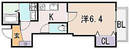 グランオリオン吉松[2階]の間取り