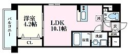 Felice Nishikawa 3階1LDKの間取り