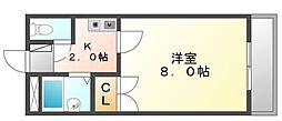 香川県高松市瀬戸内町の賃貸アパートの間取り
