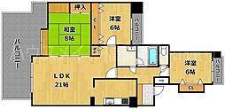 エステートマンション大濠フローレス[2階]の間取り