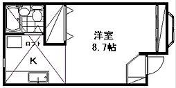 新潟県新潟市東区山木戸6丁目の賃貸アパートの間取り