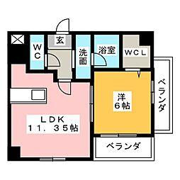 レガーロ掛川[2階]の間取り