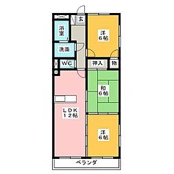 グランドヒルズ神宮寺5番館[3階]の間取り